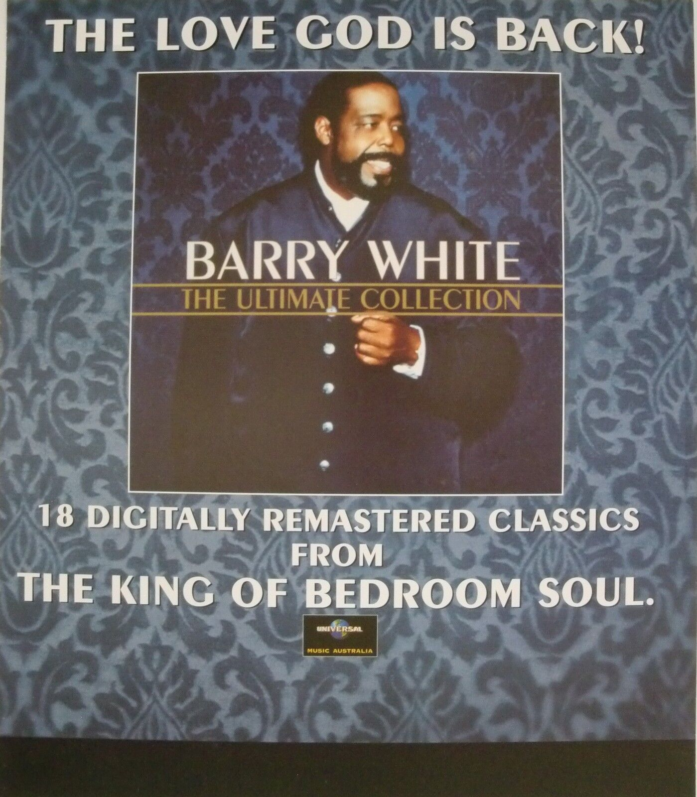 """Barry White Ultimate Collection: Barry White """"Ultimate Collection"""" U S Promo Poster Soul"""