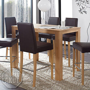 bartisch dalor tisch bistrotisch buche massiv natur lackiert 125x80 cm ebay. Black Bedroom Furniture Sets. Home Design Ideas