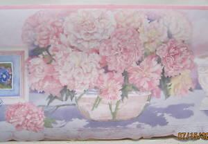 bath flowers victorian bathroom wallpaper border 7 1 2 ebay