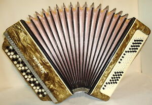 BAYAN UKRAINE. Classic Ukrainian CHROMATIC Button ACCORDION B SYSTEM. Nice sound in Musical Instruments & Gear, Accordion & Concertina | eBay