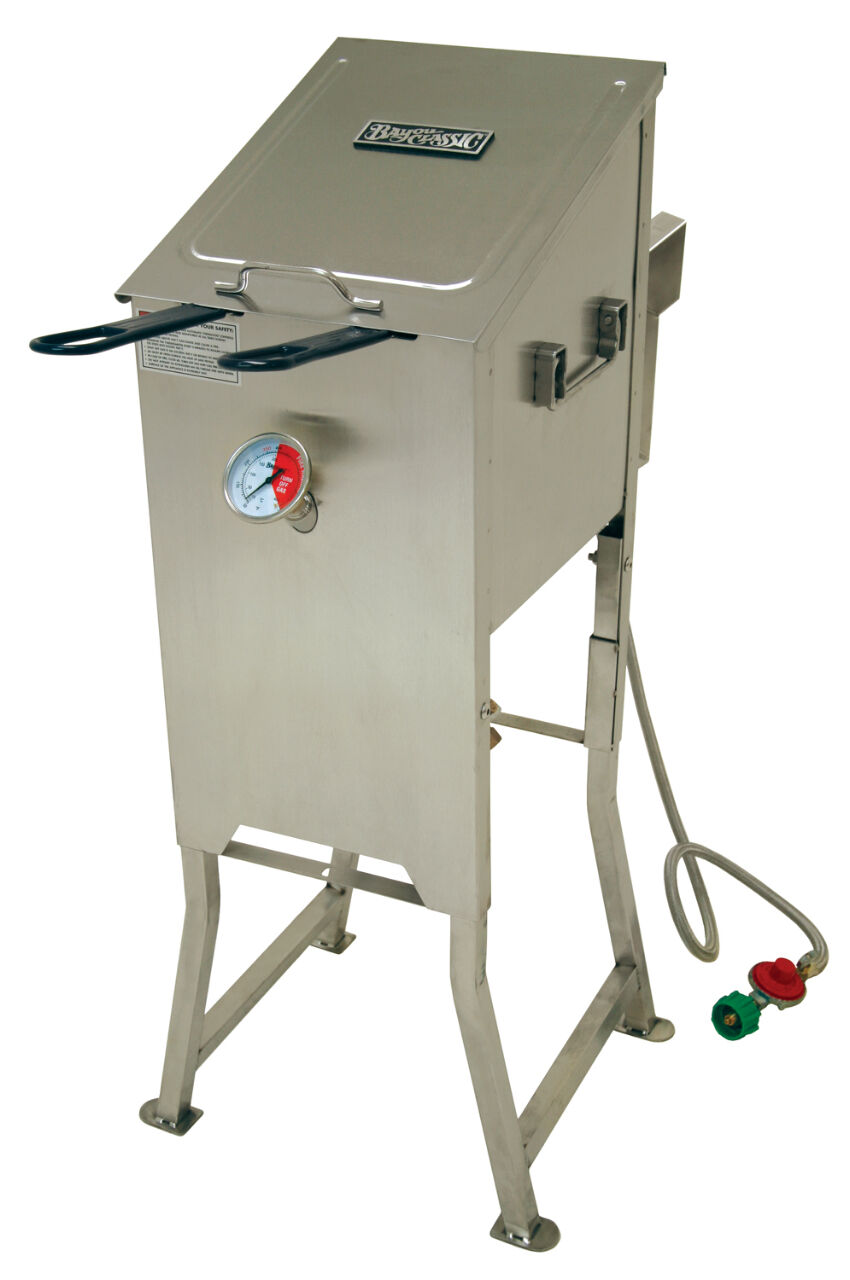 bayou 700 701 4 gallon stainless steel propane deep fryer