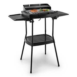 bbq standgrill barbecue grillwagen schwarz elektrischer. Black Bedroom Furniture Sets. Home Design Ideas