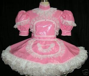 Dress on Bbt Pvc Adult Sissy Maid Dress   Ebay