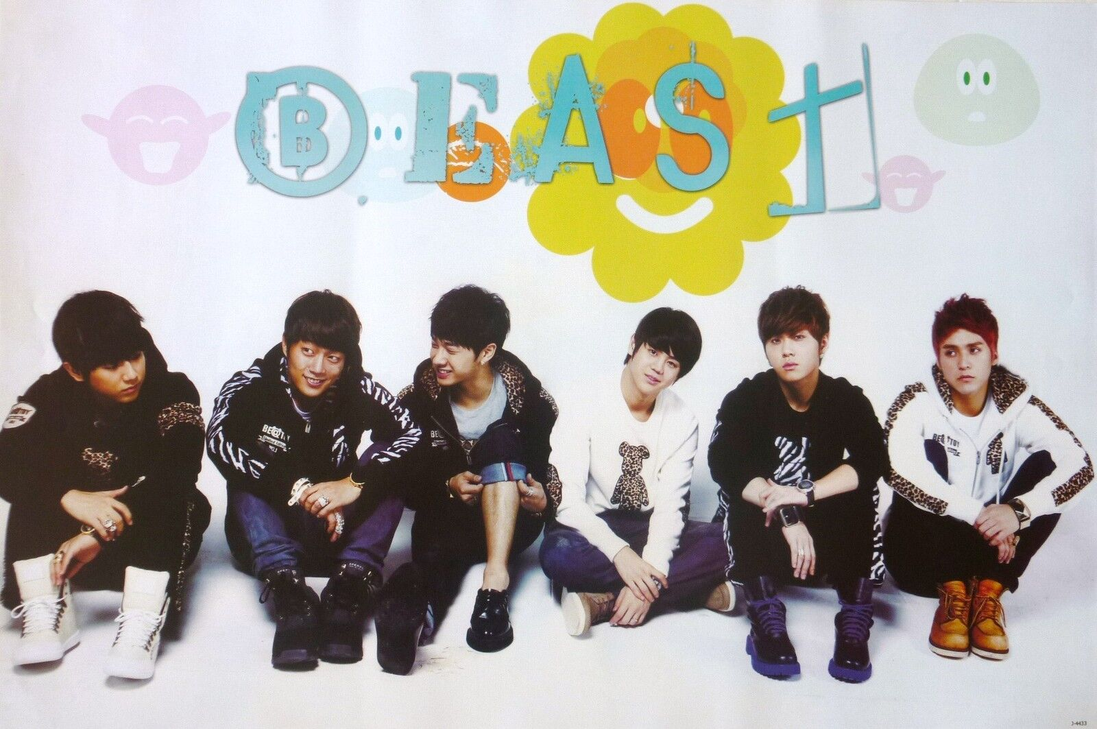Beast quot;Sitting on Floorquot; Poster from Asia Korean Boy Band K Pop Mus