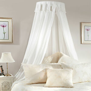 BED CANOPY Coronet Corona COMPLETE SET Inc Frame WHITE Or