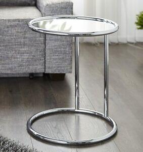 beistelltisch art deco aus chrom und glas ebay. Black Bedroom Furniture Sets. Home Design Ideas