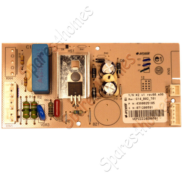 BEKO FRIDGE FREEZER PCB CONTROL BOARD MODULE CDA539FW-2, CDA543FS/1, CDA543FS/2