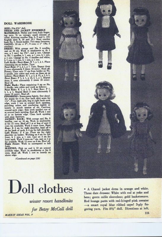 Wool Works: knitting for dolls