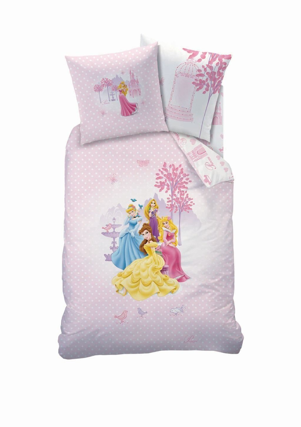 biber kinder bettw sche 135 200 disney princess palace neu ovp baumwolle flanell ebay. Black Bedroom Furniture Sets. Home Design Ideas