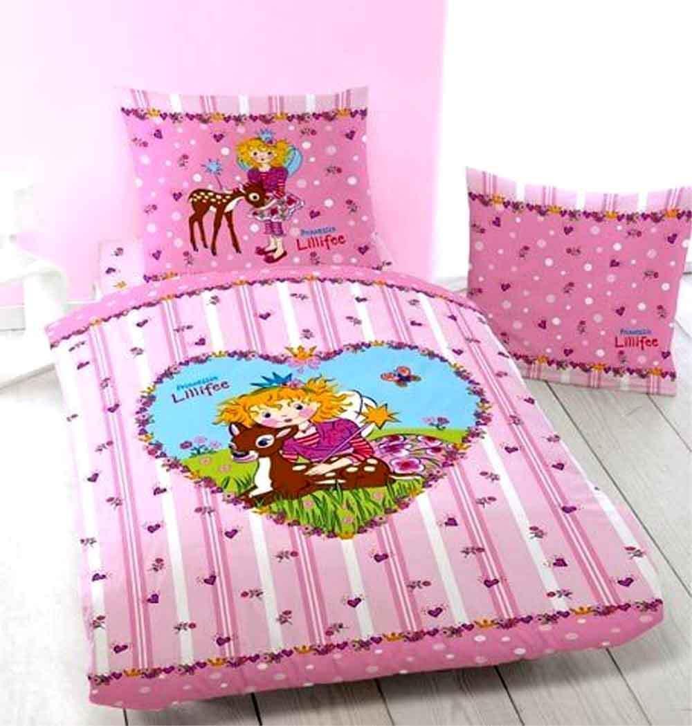 linon kinder bettw sche prinzessin lillifee bambi neu ovp 100 baumwolle reh ebay. Black Bedroom Furniture Sets. Home Design Ideas