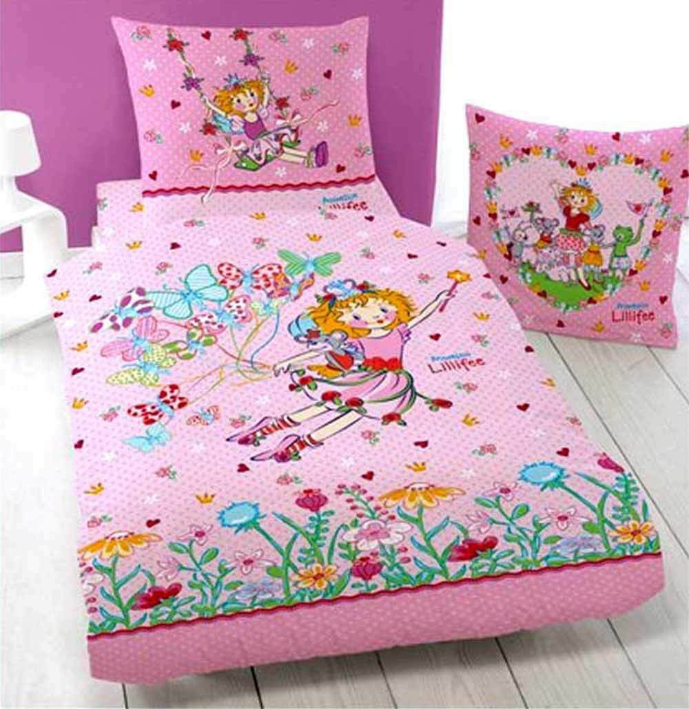 biber kinder bettw sche prinzessin lillifee butterfly neu ovp flanell baumwolle ebay. Black Bedroom Furniture Sets. Home Design Ideas
