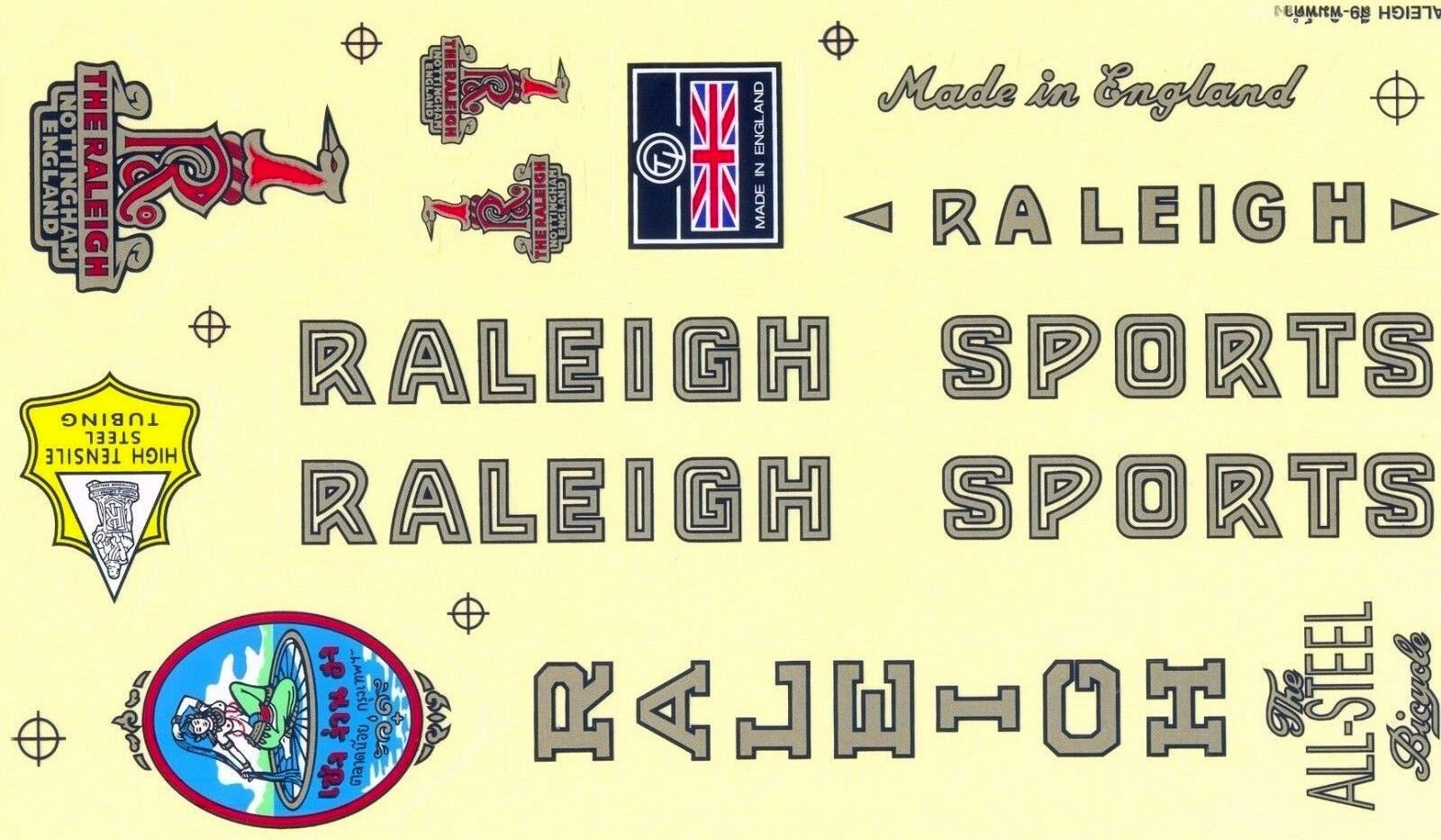Decals Bicycle Vintage Bike Parts Raleigh Stickers Cycling