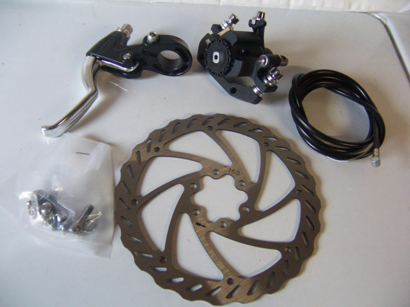 Bicycle Disc Brake Rear Set 160mm Rotor Caliper Cable