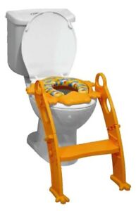 BIECO-TOILETTENTRAINER-GEPOLSTERTER-WC-SITZ-ENTE-ORANGE