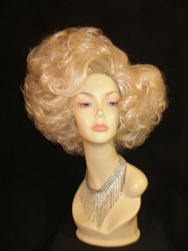 BIG HAIR RUPAUL DRAG RACE INSPIRED CURLY BLONDE PANTO DAME DRAG QUEEN DIVA WIG in Crafts, Other Crafts, Other Crafts | eBay