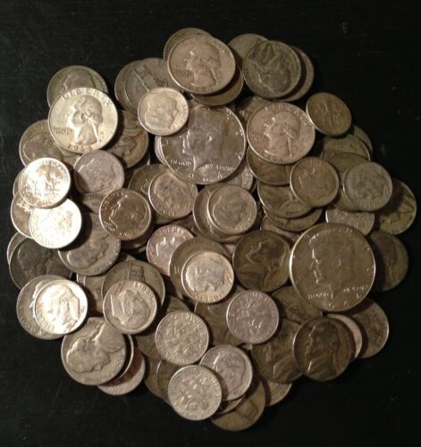 BIG SALE! Lot Old US Junk Silver Coins 1 Pound LB Pre-1965 Readable Dates* in Coins & Paper Money, Coins: US, Collections, Lots | eBay