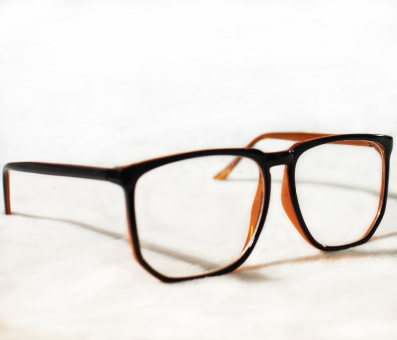 large black frame glasses eyeglasses
