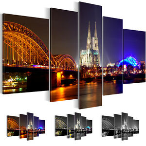 bild bilder leinwand kunstdruck wandbild k ln schwarz wei 5tlg. Black Bedroom Furniture Sets. Home Design Ideas
