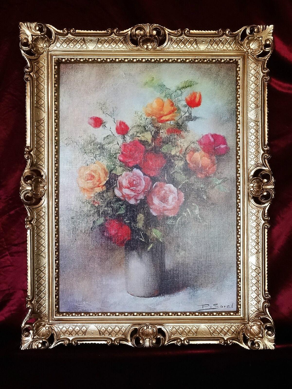Bilderrahmen bild mit rahmen antik repro barock rokoko for Couchtisch 90x70