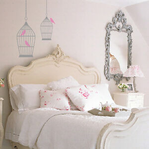 BIRD CAGE VINTAGE/SHABBY CHIC SYLE Wall Art Sticker/Decal BC4 | eBay