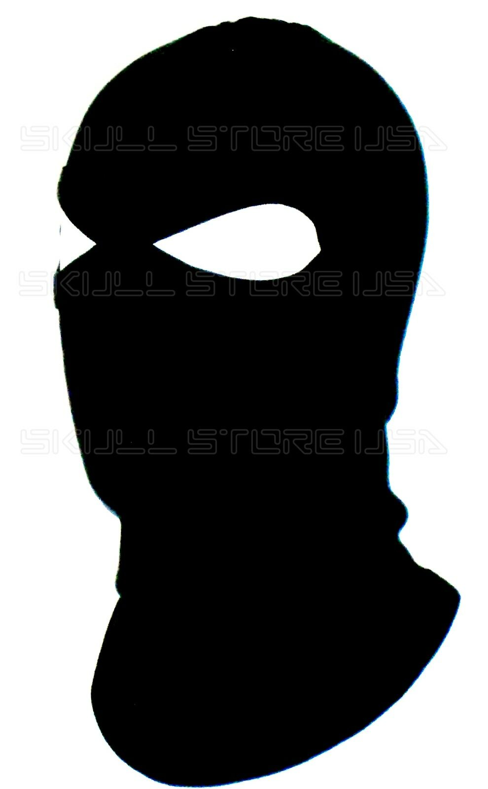 BLACK 2 HOLE BALACLAVA FULL SKI HOOD LONG NECK FACE MASK LARPA ...