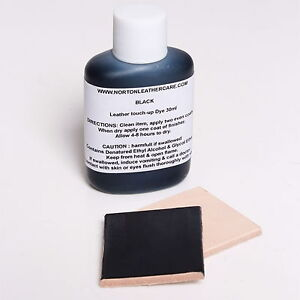 black 30ml leather dye touch up car interior seats upholstery boots shoes belts ebay. Black Bedroom Furniture Sets. Home Design Ideas