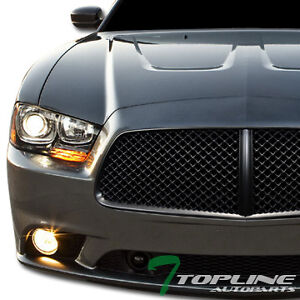 Honeycomb sport mesh front hood grill grille abs 11 12 dodge charger