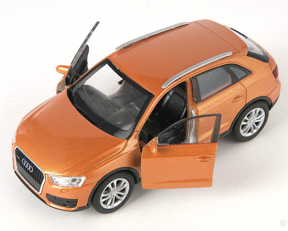 blitz versand audi q3 orange metallic welly modell auto. Black Bedroom Furniture Sets. Home Design Ideas