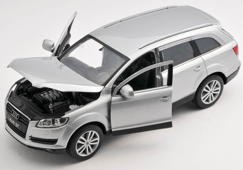 blitz versand audi q7 silber silver welly modell auto 1. Black Bedroom Furniture Sets. Home Design Ideas