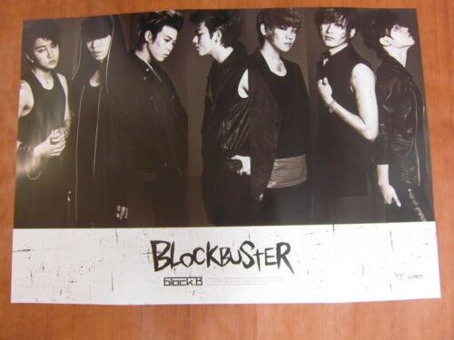 BLOCK B - Blockbuster (Special Edition) [OFFICIAL] POSTER *NEW* K-POP in Entertainment Memorabilia, Music Memorabilia, Other | eBay