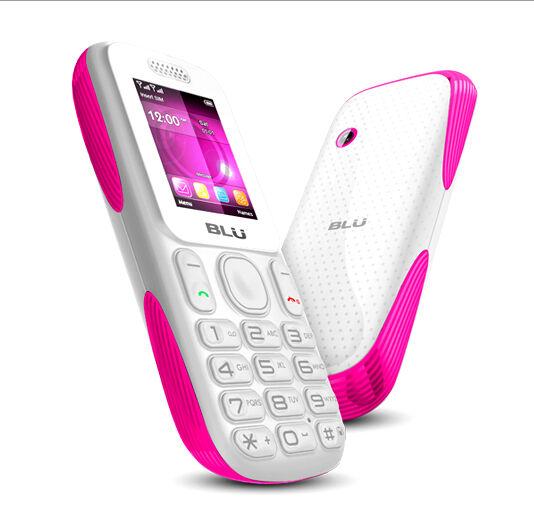 Blu Tank T190 Dual Sim Quadband Bluetooth Unlocked GSM White Pink Cell Phone New