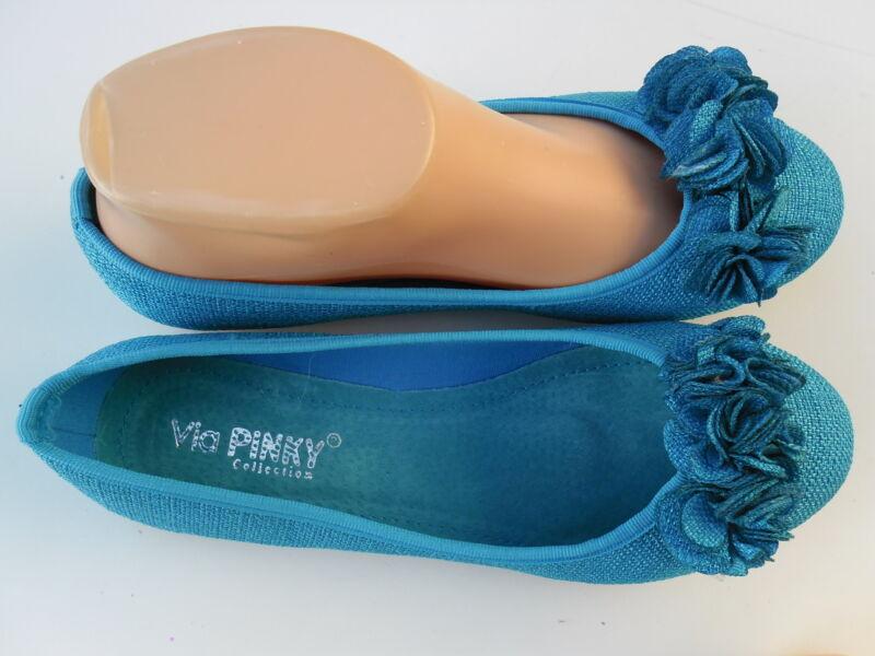 BLUE WOMENu0026#39;S CASUAL FLAT SHOES VIA PINKY SIZE 6-10 | EBay