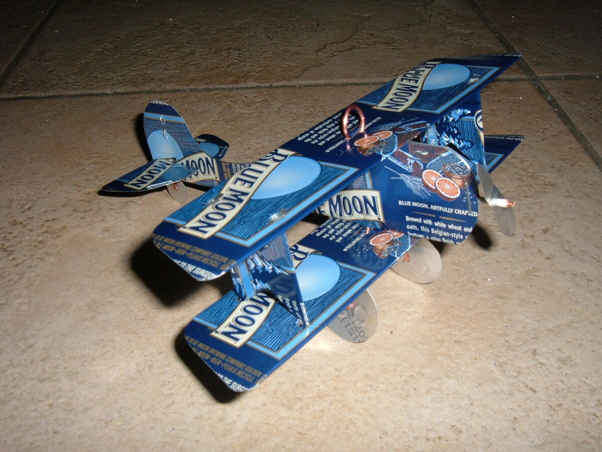 soda can airplane instructions