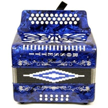 BLUE ROSSETTI ACCORDION 31 BUTTON GCF ACORDION BOTONES 31 SOL in Musical Instruments & Gear, Accordion & Concertina | eBay