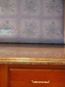 details about blue tile backsplash peel n stick contact paper