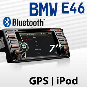 bmw e46 auto radio gps dvd navigation navi bluetooth tv. Black Bedroom Furniture Sets. Home Design Ideas