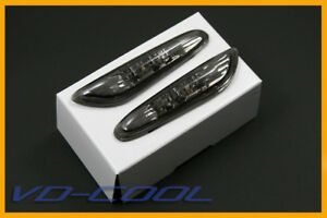 BMW-E90-E91-E92-SMOKE-SIDE-MARKER-LIGHTS-LAMPS-LED-COLOR-AMBER