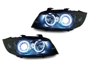 BMW-E90-E91-UHP-LED-ANGEL-EURO-XENON-HID-HEADLIGHT-CCFL