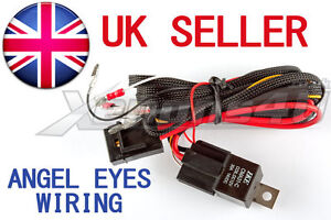 bmw smd led angel eyes wiring relay harness for e30 e34. Black Bedroom Furniture Sets. Home Design Ideas