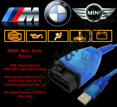 bmw usb obd diagnostic cable inpa ediabas ncs expert dis. Black Bedroom Furniture Sets. Home Design Ideas