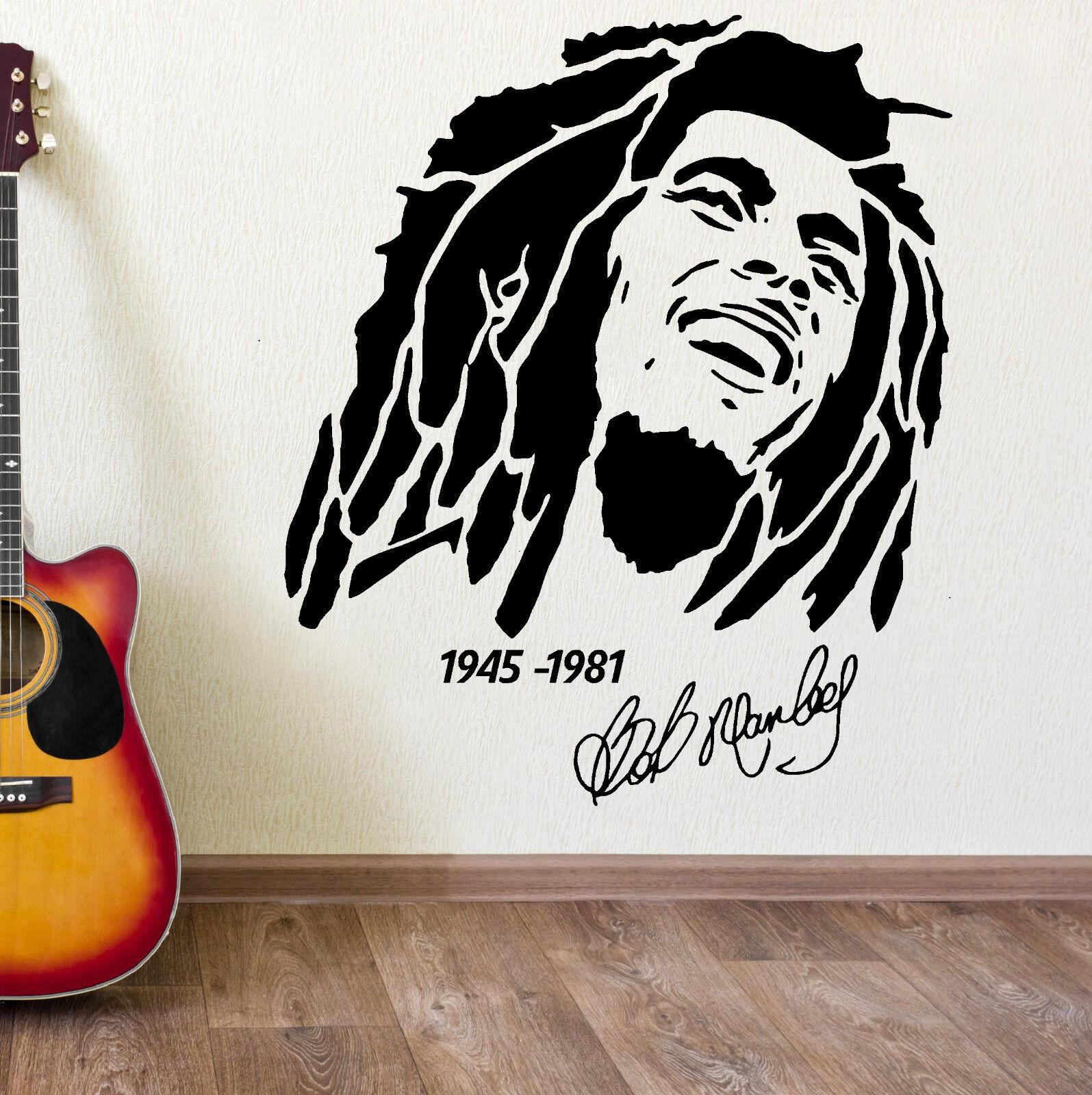 Bob Marley 1945 1981 Vinyl Wall Art Sticker Decal Ebay