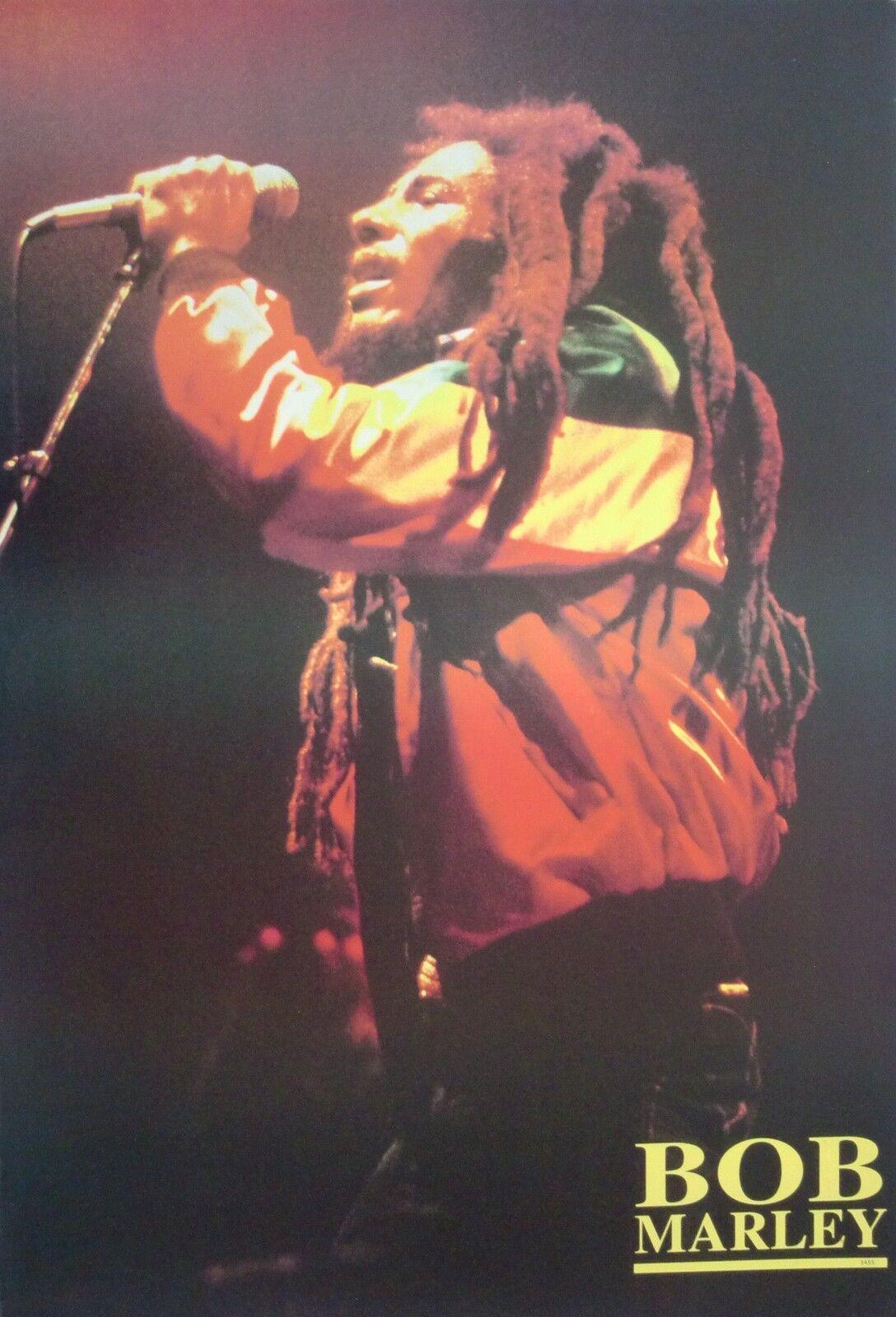 bob marley holding mic singing poster from asia reggae ska rocksteady ebay. Black Bedroom Furniture Sets. Home Design Ideas