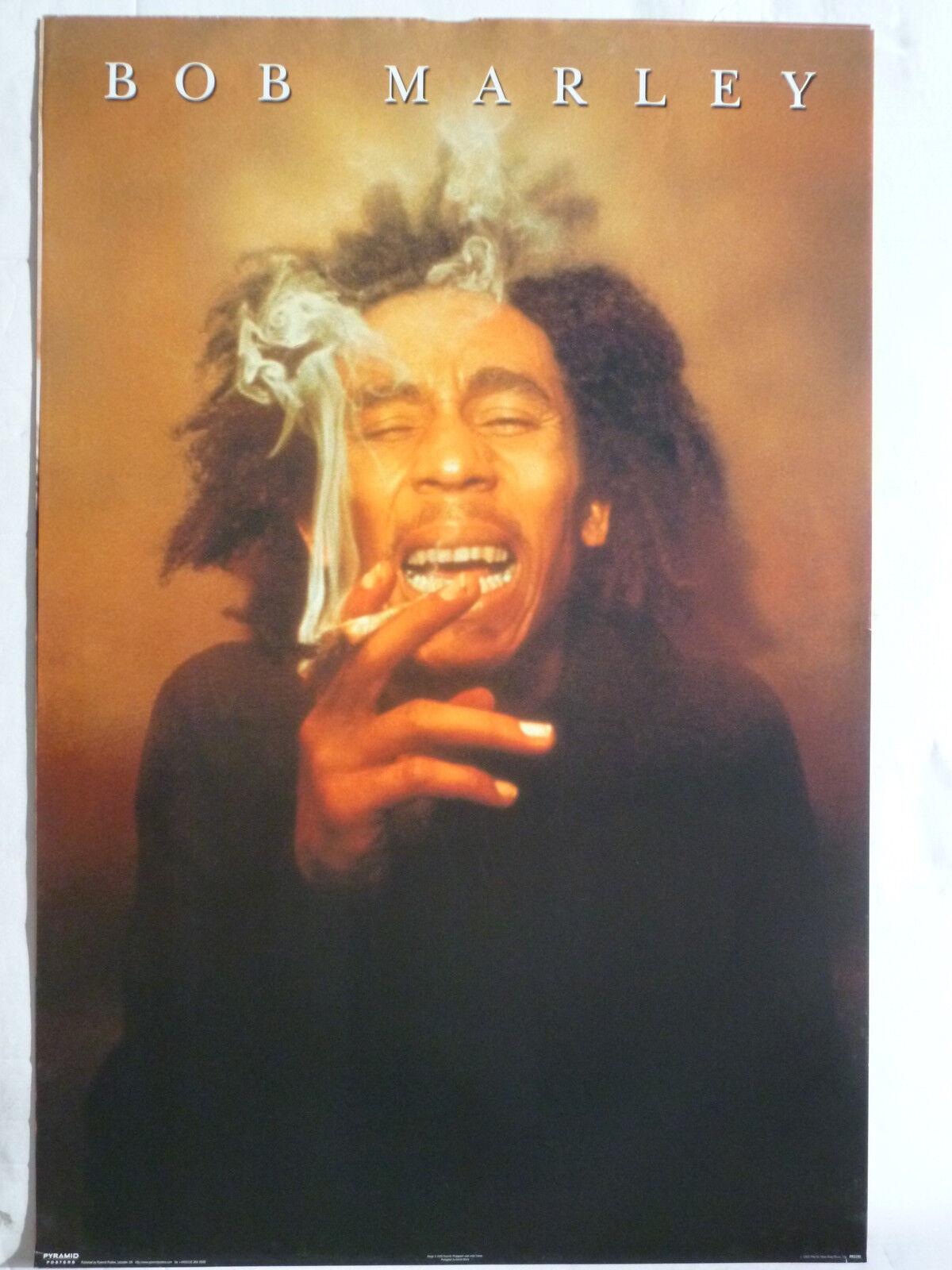 bob marley smoking a blunt u k commercial poster reggae music ebay. Black Bedroom Furniture Sets. Home Design Ideas