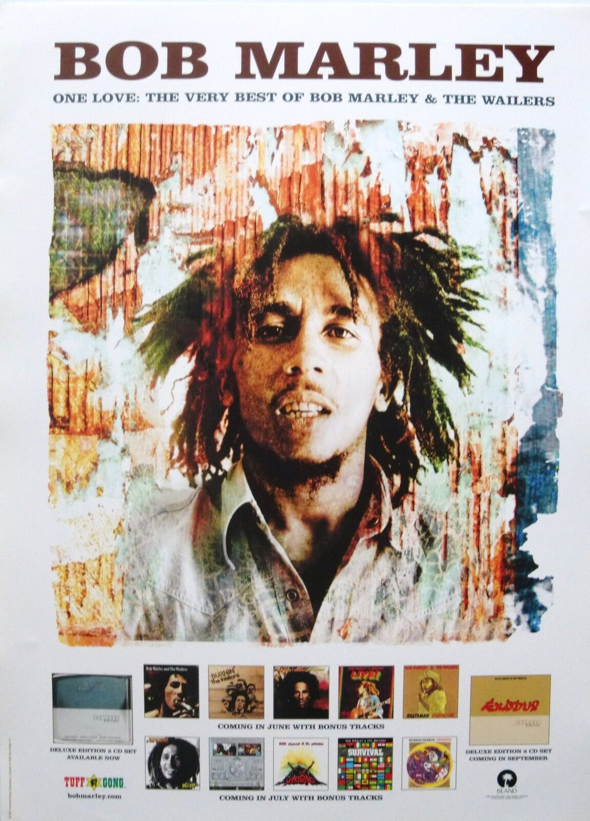 bob marley wailers one love the very best u s promo poster reggae music ebay. Black Bedroom Furniture Sets. Home Design Ideas