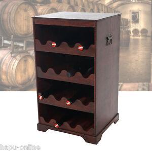 bodega 1 weinschrank f r 16 flaschen weinregal servierwagen holz bar regal 36635 ebay. Black Bedroom Furniture Sets. Home Design Ideas