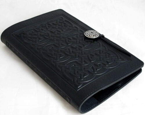 "BOLD CELTIC Oberon Design Leather Moleskine Cover 6""x9"" Black for large books in Books, Accessories, Blank Diaries & Journals 