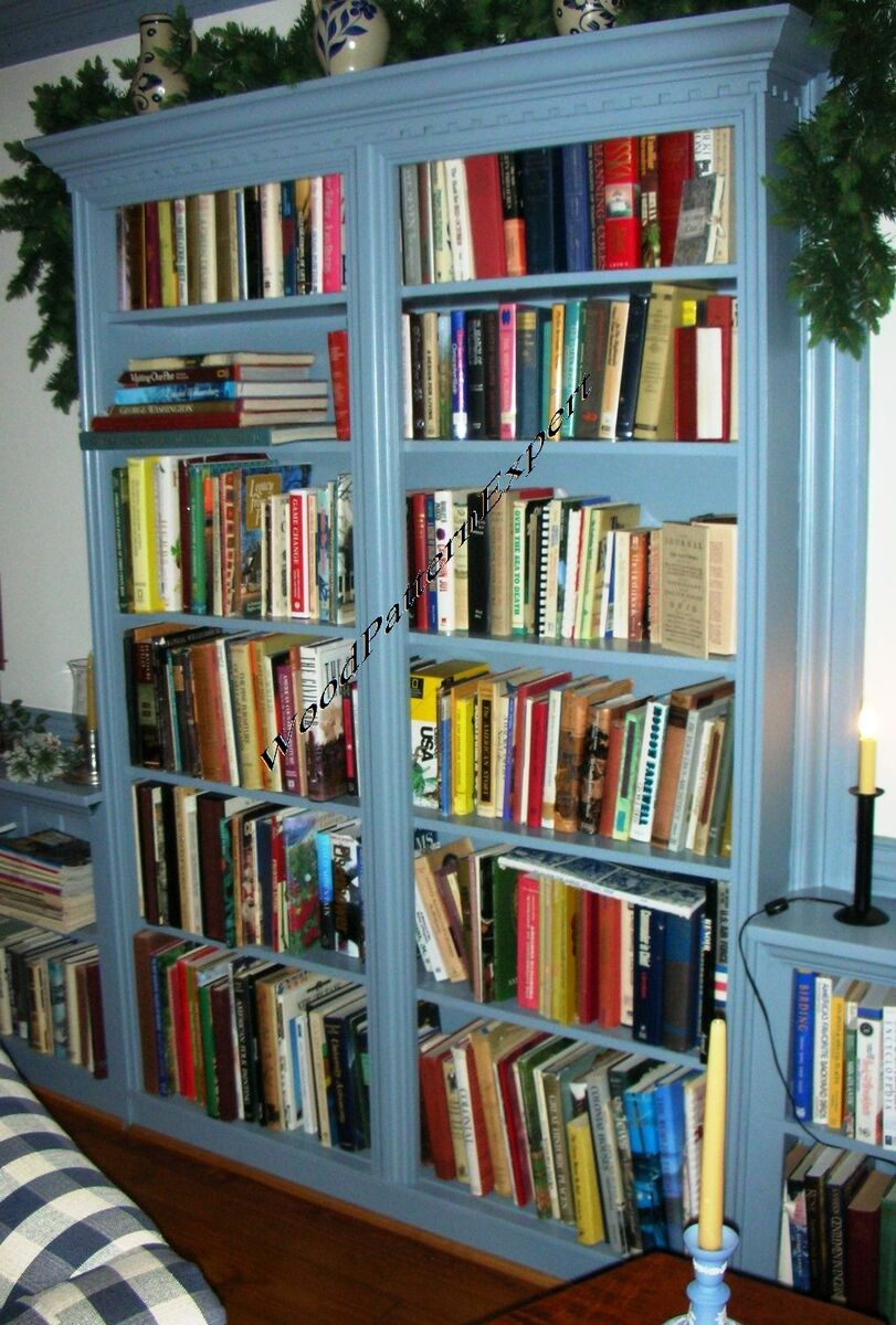 Bookcase paper plans easy diy patterns build any size for Building a bookcase for beginners