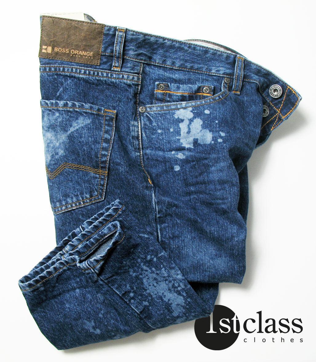 boss orange 25 jeans spot in 33 34 regular fit blue acid wash ebay. Black Bedroom Furniture Sets. Home Design Ideas