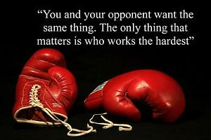 boxing inspirational motivational quote poster print