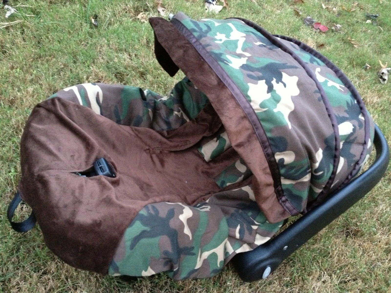 Baby Military Print Infant Car Seat Cover Canopy Cover Fit